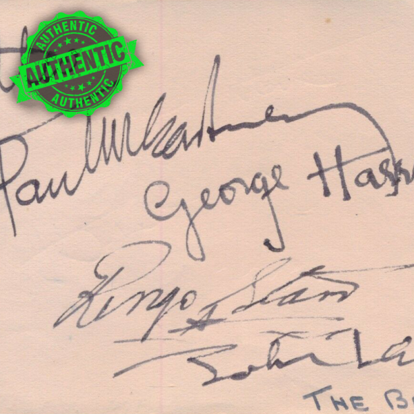 The Beatles signed book page 1963