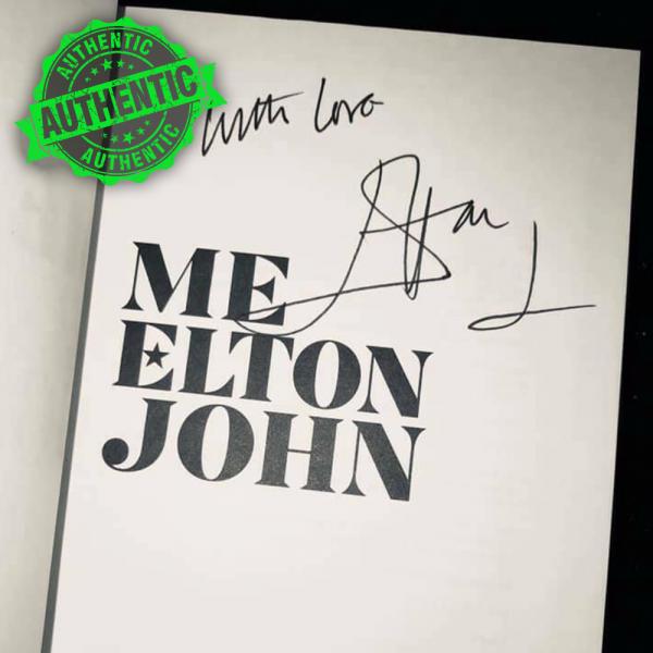 """Elton John signed """"ME"""" book"""