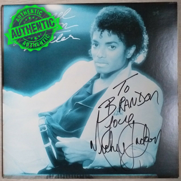 "Michael Jackson signed ""THRILLER"" LP"