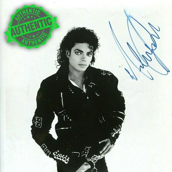 """Michael Jackson signed """"BAD"""" promotional Photo"""