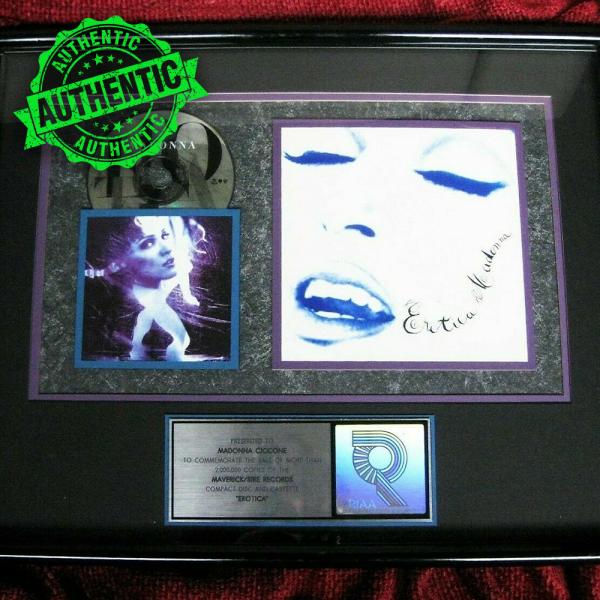 "Madonna RIAA award ""EROTICA"""