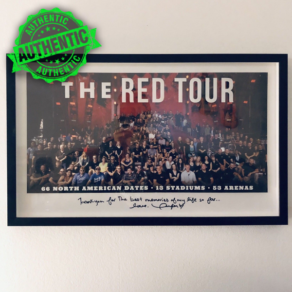 """Taylor Swift signed """"RED"""" tour picture"""