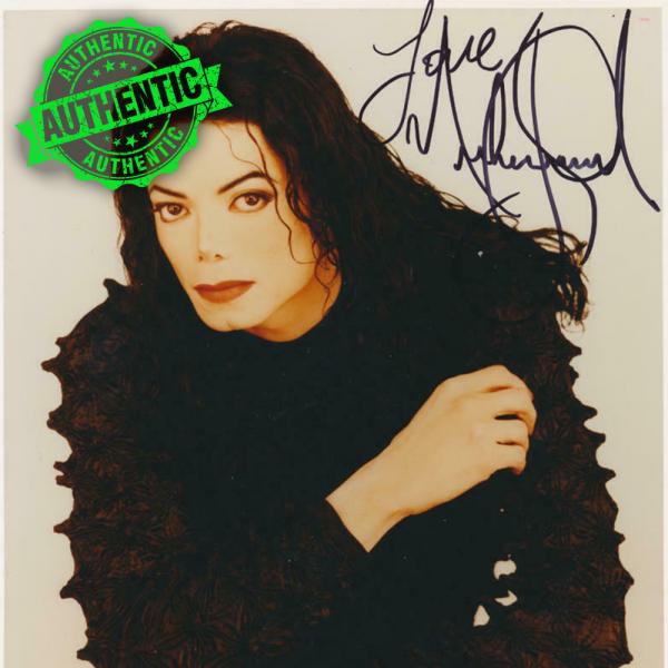 Michael Jackson signed promotional photo