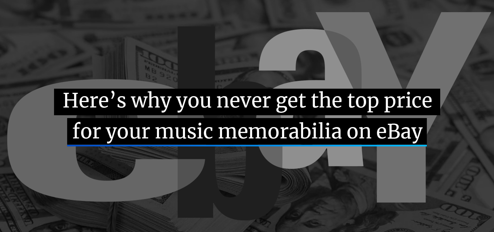 Here's why you never get the top price for your music memorabilia on eBay