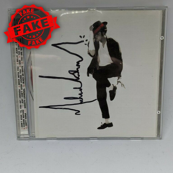 """Michael Jackson signed """"NUMBER ONES"""" CD"""