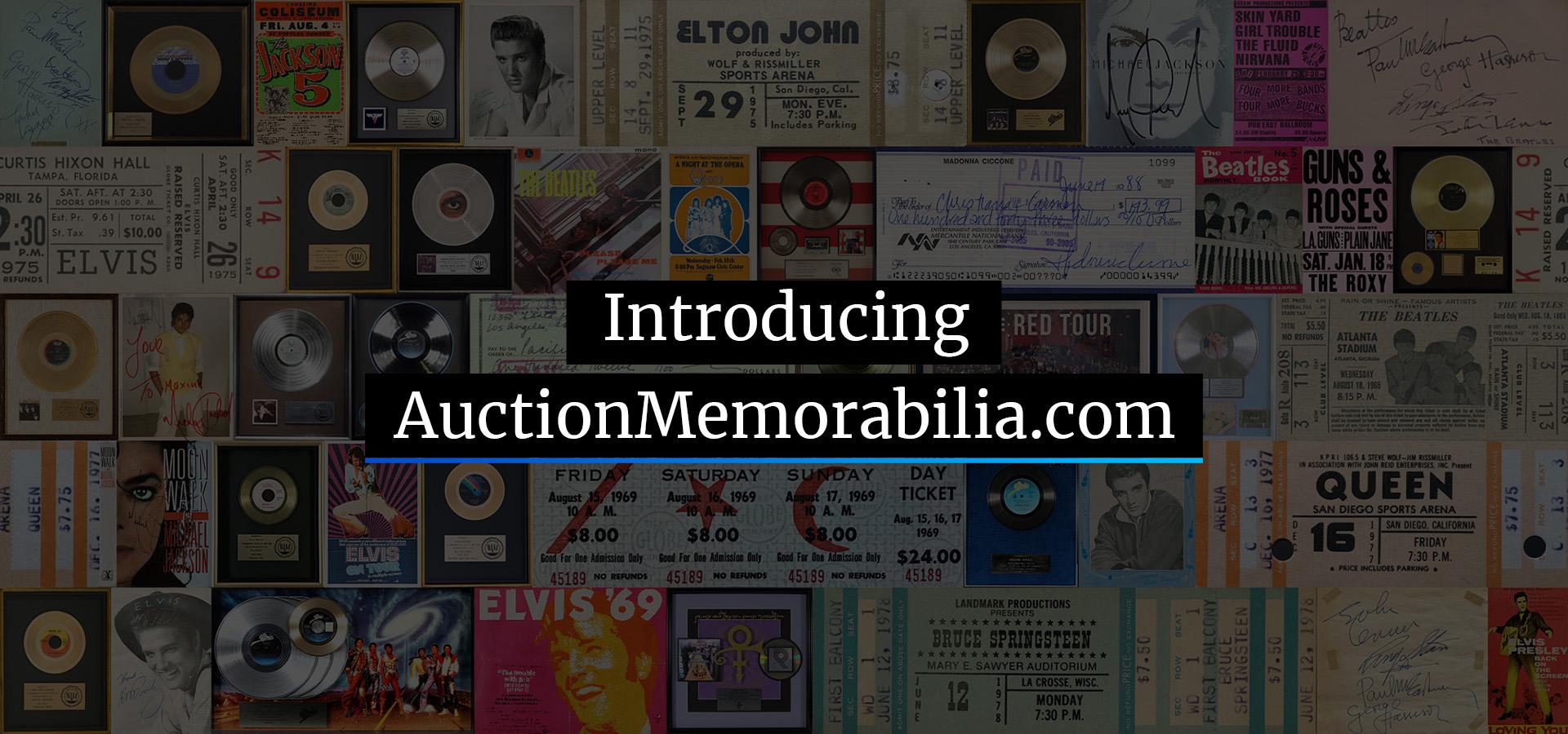 Introducing AuctionMemorabilia.com